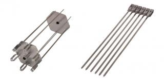 This rotisserie skewer includes 6 long & 6 short skewers to expand your options with the gas grills.