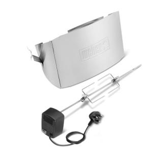 Use with the Weber Q200 or Q2000 series gas grills to spit roast.