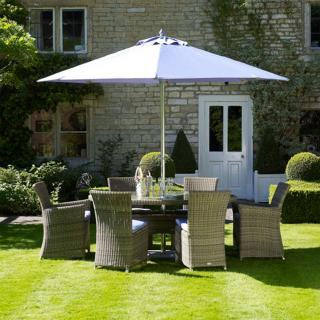 This beautiful Naunton Manor Sahara 175cm Elliptical Set for Six is ideal for alfresco dining or simply relaxing around.