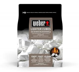 Weber Lighter Cubes in new resealable packaging