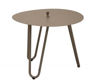 This aluminium table comes in two heights & a range of colours & has a useful central handle for moving it around.