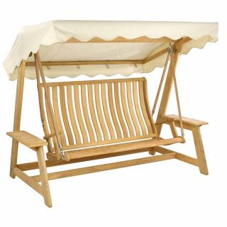 Alexander Rose Code 193. A hardwood garden swing with canopy.
