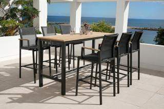 Barlow Tyrie Aura 200cm High Dining Set for Six