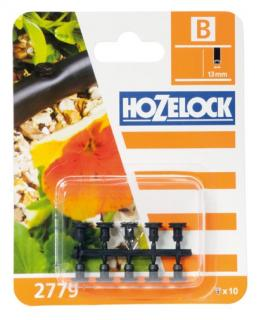 Hozelock Automatic Watering Hose Blanking Plug - 2779. Used to seal holes in the 13mm supply pipe. Pack of 10.