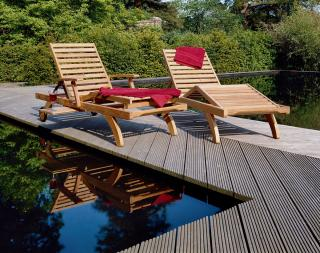 Barlow Tyrie Capri Teak Ultra Sun Lounger - Set of Two