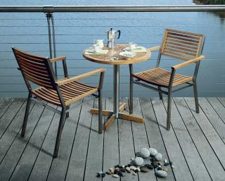 Barlow Tyrie Equinox Bistro Set with Teak Table Top