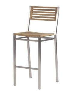 Barlow Tyrie Equinox High Dining Chair with Teak Seat & Back