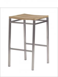 Barlow Tyrie Equinox High Dining Stool with Teak Seat