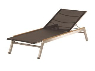 Barlow Tyrie Code 1EQL. The Equinox Stacking Lounger is ideal for use in coastal areas.