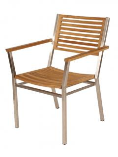 Barlow Tyrie Equinox Dining Armchair with Teak Seat & Back