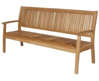 Barlow Tyrie Code 1MO20. The elegant Monaco 200cm Teak Bench is ideal for gardens, parks and recreational areas.