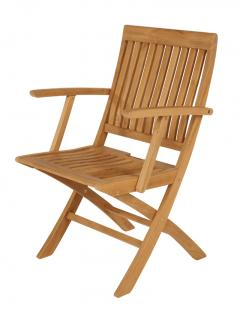 Barlow Tyrie Code 1MOCF. The Monaco Folding Teak Carver Chair is ideal for dining in the smaller garden or patio.