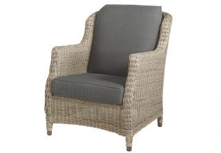 4 Seasons Outdoor Brighton Living Armchair in Pure