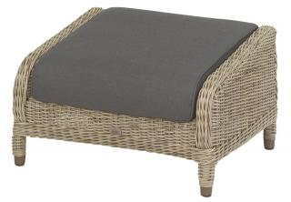 4 Seasons Outdoor Brighton Footstool in Pure