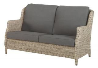 4 Seasons Outdoor Brighton 2.5 Seater Bench in Pure