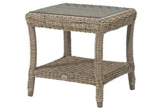 4 Seasons Outdoor Buckingham Side Table in Pure