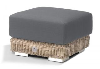 4 Seasons Outdoor Kingston Footstool in Pure