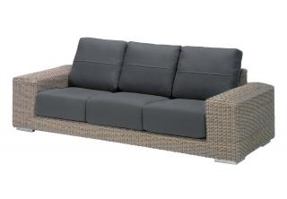 4 Seasons Outdoor Kingston 3 Seater Bench in Pure
