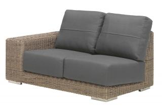 4 Seasons Outdoor Kingston Modular 2 Seat Sofa Right in Pure
