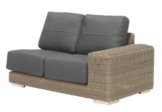 4 Seasons Outdoor Kingston Modular 2 Seat Sofa Left in Pure
