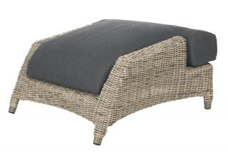 4 Seasons Outdoor Valentine Footstool in Pure