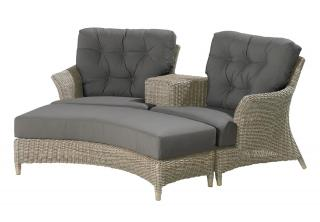 An outstanding Hularo Weave companion set with all weather cushions. Footstool available at extra cost.