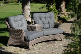 4 Seasons Outdoor Valentine Love Seat in Pure