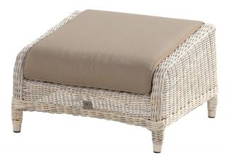 A comfy Hularo Weave footstool in natural with cushion.