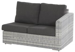 This modular sofa has an arm on the left hand end & comes in a multi-tone grey Hularo Weave with thick all weather cushions in Anthracite Grey.