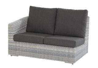 This modular sofa has an arm on the right hand end & comes in a multi-tone grey Hularo Weave with thick all weather cushions in Anthracite Grey.