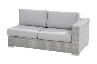 This modular bench will extend your Lucca set & comes with thick all weather cushions in Manchester Grey.