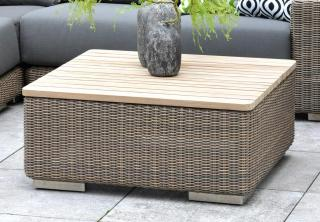 4 Seasons Outdoor Kingston Coffee Table with Teak Top 0.85m in Pure