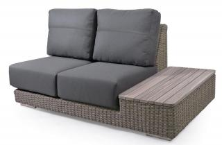 4 Seasons Outdoor Kingston Modular 2 Seat Sofa Left Island Teak in Pure