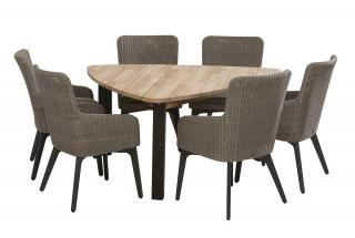 4 Seasons Outdoor Luxor 6 Seat Triangular Derby Dining Set