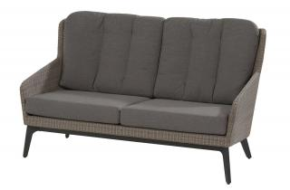 4 Seasons Outdoor Luxor 2.5 Seater Living Bench in Polyloom Pebble
