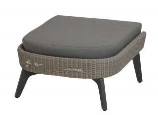 4 Seasons Outdoor Luxor Footstool in Polyloom Pebble