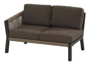 This eye-catching modular sofa has an aluminium frame with an anthracite finish & taupe rope detailing.