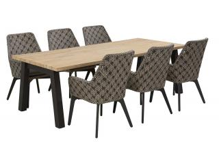 4 Seasons Outdoor Savoy 6 Seat Rectangular Derby Dining Set