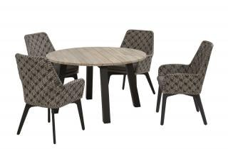 4 Seasons Outdoor Savoy 4 Seat Round Derby Dining Set