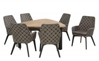 4 Seasons Outdoor Savoy 6 Seat Triangular Derby Dining Set