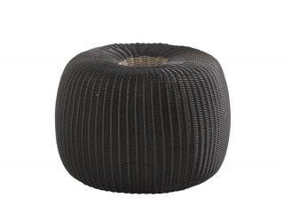 4 Seasons Outdoor Big Donut in Polyloom Anthracite