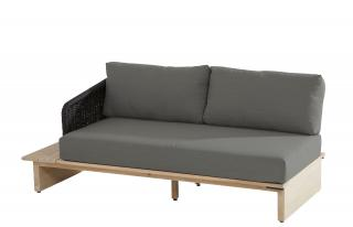 4 Seasons Outdoor Altea 2 Seater Bench Right Arm