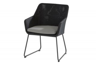 4 Seasons Outdoor Avila Dining Chair in Polyloom Anthracite