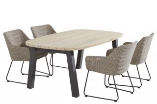 This attractive oval dining set is ideal for a small patio & is easy to maintain.