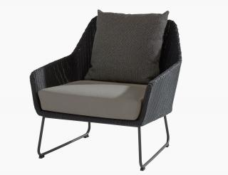 4 Seasons Outdoor Avila Living Chair in Polyloom Anthracite