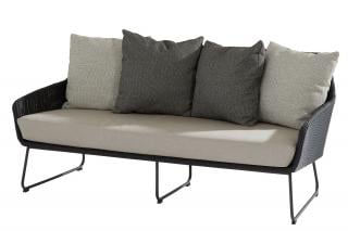 4 Seasons Outdoor Avila 2.5 Seater Living Bench in Polyloom Anthracite