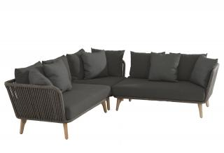This eye-catching modular set has an aluminium frame with an anthracite finish & taupe rope detailing.