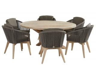 4 Seasons Outdoor Santander 6 Seat Louvre Dining Set