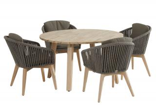 4 Seasons Outdoor Santander 4 Seat Derby Teak Dining Set