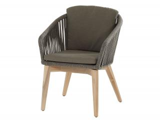 c21068c1f75b This eye-catching dining chair has an aluminium frame wound with high  quality flat rope